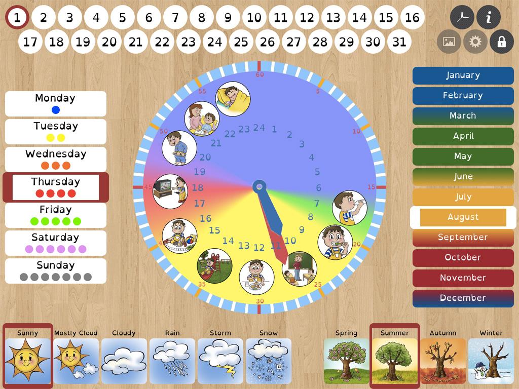 Niki Time Clock And Calendar